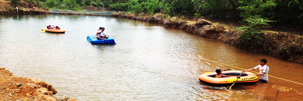 MONSOON ADVENTURE LEARNING WITH WATER RAFTING AT FRANAV FARMS